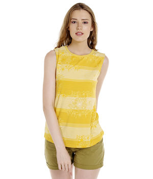 Solid Round Neck T-Shirt,  yellow, s