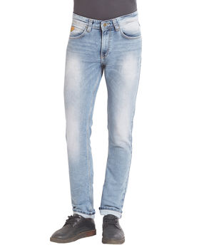 Low Rise Narrow Fit Jeans, 34,  light blue