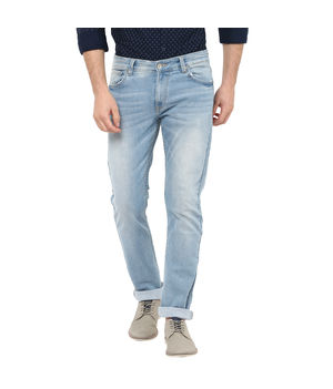 Rover Low Rise Narrow Fit Jeans, 32,  light blue