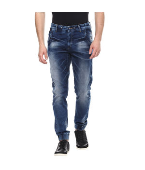 Mid Rise Joggers Fit Jeans, 34,  dark blue