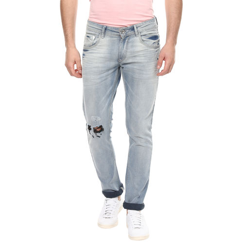 Skinny Low Rise Narrow Fit Jeans,  light blue, 30