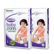 Himalaya Total Care Baby Pants Diapers-L-28'S-Pack Of 2