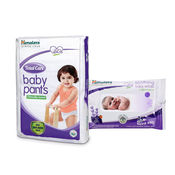 Himalaya Total Care Baby Diaper Pants-L 9 And Himalaya Soothing Baby Wipes 24'S