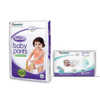Himalaya Total Care Baby Diaper Pants-L 2 And Himalaya Gentle Baby Wipes 24'S