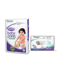 Himalaya Total Care Baby Diaper Pants-Xl 54 And Himalaya Gentle Baby Wipes 24'S
