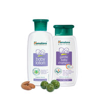 Himalaya Baby Lotion 200 Ml And Gentle Baby Shampoo 100 Ml