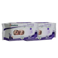 Himalaya Soothing Baby Wipes 72'S-Pack Of 2