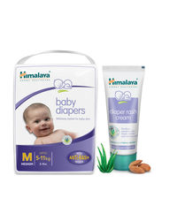 Himalaya Baby Diapers M-2 And Diaper Rash Cream 50Gm