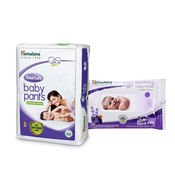 Himalaya Total Care Baby Diaper Pants-S 2 And Himalaya Soothing Baby Wipes 24'S