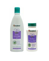 Himalaya Baby Massage Oil 200Ml And Baby Powder 50Gms