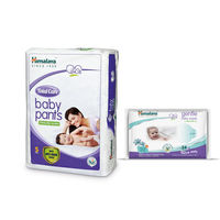Himalaya Total Care Baby Diaper Pants-S 54 And Himalaya Gentle Baby Wipes 24'S