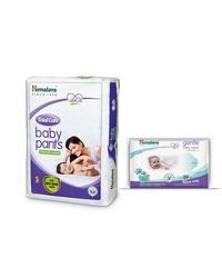 Himalaya Total Care Baby Diaper Pants-S 28 And Himalaya Gentle Baby Wipes 24'S