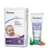 Himalaya Baby Diapers L-28 And Diaper Rash Cream 50Gm