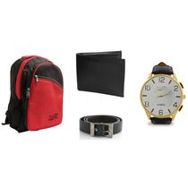 Fidato Mens Combo With Accessories (FD-226), red and blue