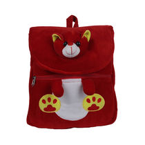 Ultra Cute Teddy Face School Bag 14 Inches (1026UST), red