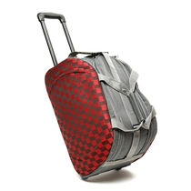 Fidato Urban Style Checkered Cabin Check In Trolley Bag (USTKTB), red and blue