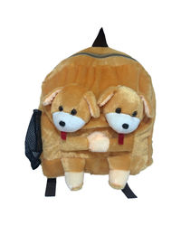 Ultra Twins Puppy School Bag 14 Inches (1172UST),  brown