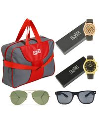 Fidato Combo Of Travel And Accessories (FD-254), red and grey