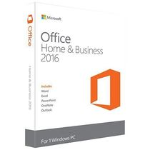 Microsoft Office Home and Business 2016 for Windows 7, 8, 10 (32Bit/64Bit) with Media DVD Format (Word, Excel, PowerPoint, OneNote, Outlook 2016) for 1 PC / User