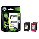 HP Combo Pack Ink Cartridge (Blk & Col) (HP 802)