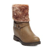TEN Leather Boot And Uggs (TENUGSTBI-034TAN02),  tan, 38