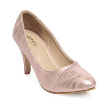 TEN Rose Gold Leather Pump, 38
