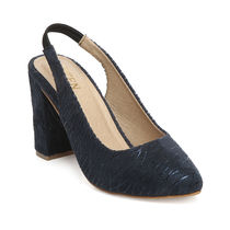 TEN Navy Blue Synthetic Leather Sandal, 35