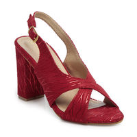 TEN Red Synthetic Sandal, 36