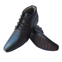 3 WOLVES Leather Ankle Formal Shoe, uk 9