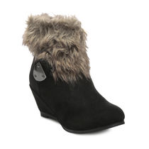 TEN Suede Leather Boot And Uggs (TENUGSTBI-035BLK01),  black, 36