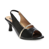 TEN Black Synthetic Leather Sandal, 35