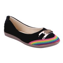 Amorrcanta Women Bellies (OS007BK), 5,  black