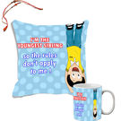 meSleep I Love My Sister Rakhi Hampers Cushion Cover And Mug Combo With Beautiful Rakhis