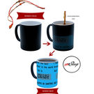 meSleep Blue Quotes Rakhi Hampers Color Changing Ceramic Magic Mug With Beautiful Rakhis