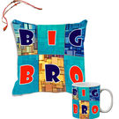 meSleep Big Sister Rakhi Hampers Cushion Cover And Mug Combo With Beautiful Rakhis