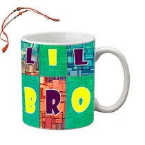 meSleep Little Bro Rakhi Hampers Mug With Beautiful Rakhis