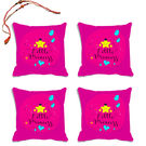 meSleep Little Princeess Rakhi Hampers Cushion Cover- Set Of 4 With Beautiful Rakhis