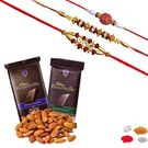Maalpani Expensive Rakhi Hamper With Delicious Dry Fruits And Chocolate Sh312-304