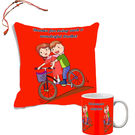 meSleep Quotes Rakhi Hampers Cushion Cover And Mug Combo With Beautiful Rakhis