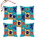 meSleep Big Bro Rakhi Hampers Cushion Cover- Set Of 5 With Beautiful Rakhis