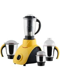 Anjalimix Mixer Grinder Corby 1000 Watts With 4 Jars,  yellow