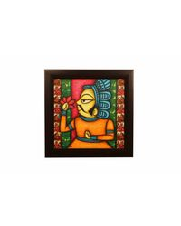 Cocovey King Handmade Rajasthani Phad Art Painting (HWP111017), multicolor
