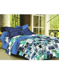 Valtellina Cotton King Size 1 Double Bedsheet With 2 Pillow Covers (TR_ LV-013), multicolor