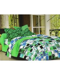 Valtellina Cotton King Size 1 Double Bedsheet With 2 Pillow Covers (TR_ LV-012), multicolor