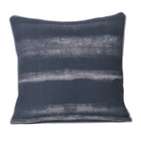 Monogram Dark Grey Square Cotton Hand Print Cushion Cover Set - 5 Piece