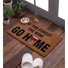 Swhf Premium Coir And Rubber Quirky Design Door And Floor Mat - If You Forgot The Wine Go Home