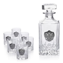 Shaze La Clase 7 Piece Whiskey Set,  silver