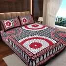 Ahmedabad Cotton Jaipuri Collection Cotton Double Bedsheet With 2 Pillow Covers (ACB20D00130)