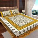 Ahmedabad Cotton Jaipuri Collection Cotton Double Bedsheet With 2 Pillow Covers (ACB20D00112)