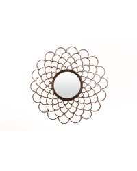 Cocovey Golden Sunburst Convex Decorative Mirror (DWM111011), golden
